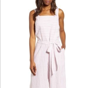 Talia Stripe Cotton & Linen Jumpsuit XS